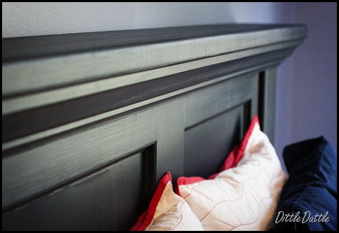 Benjamin Moore Polo Blue Headboard