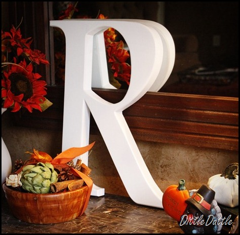 DIY Letter cut outs