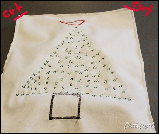 DIY Christmas Tree Pillow design