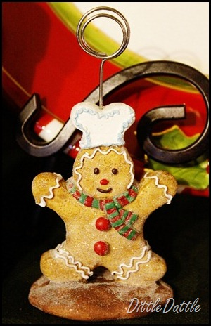 gingerbread Recipe Holder
