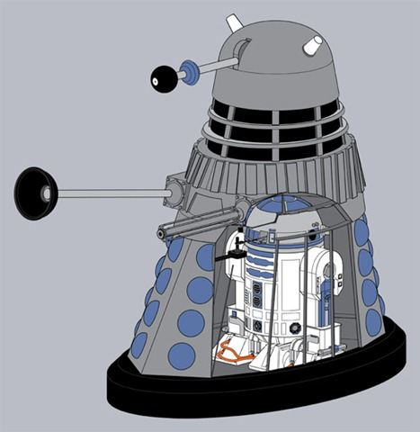 r2-d2-dalek. If you don't get it, your homework is to brush up on Doctor Who ...