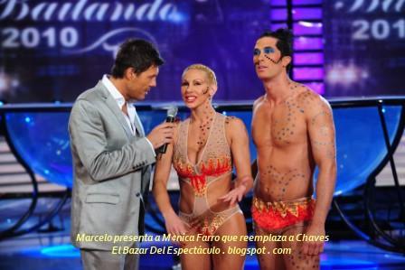 Marcelo presenta a M¢nica Farro que reemplaza a Chaves.JPG