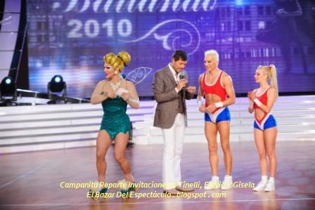 Campanita Reparte Invitaciones A Tinelli, Flavio Y Gisela.jpg
