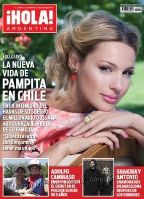 pampita en revista hola argentina 4 en venta desde el