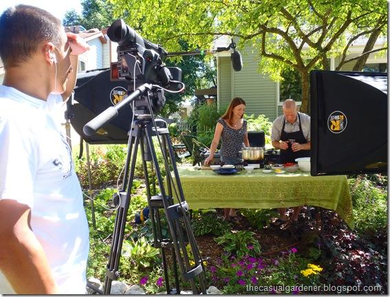Shawna Coronado and Chef Ryan Hutmacher filmed by Tony Alcala of Aquascape Inc.