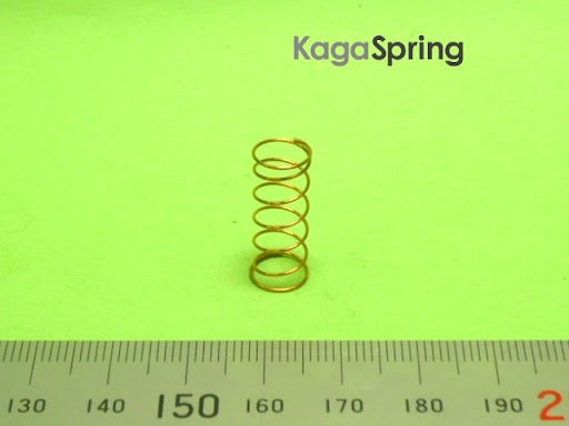 チェックバルブ調整バネ:非磁性