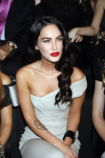 PARIS - JULY 07: Megan Fox attends the Giorgio Armani Prive Haute Couture
