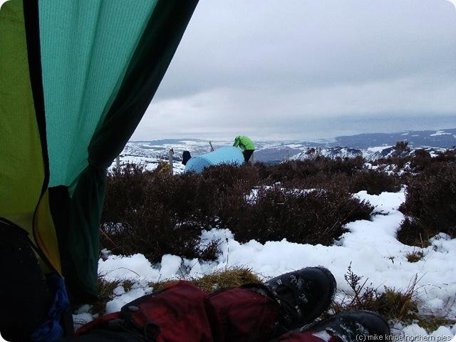 tent door view