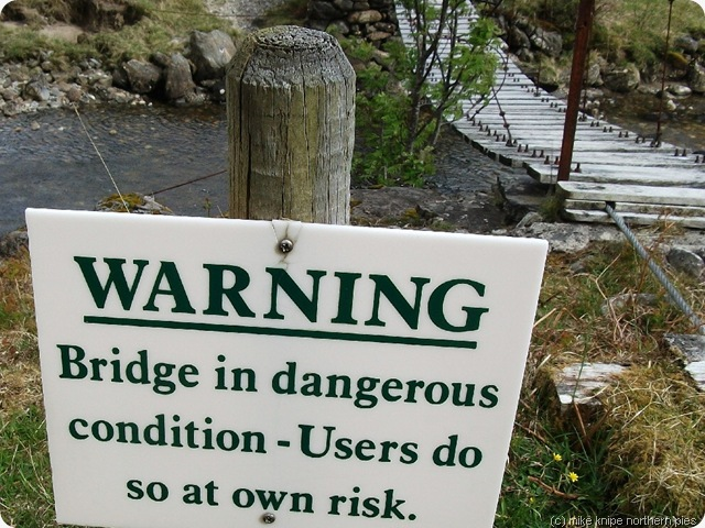 wobbly bridge notice