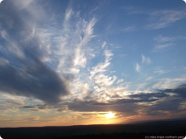 solsice eve sunset north pennines