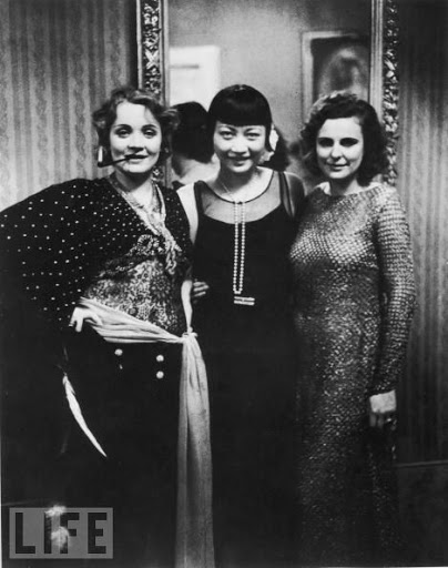 Leni Riefenstahl, Anna May Wong and Marlene Dietrich