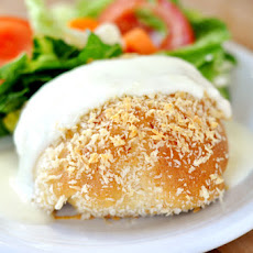 Chicken Pillows with Creamy Parmesan Sauce