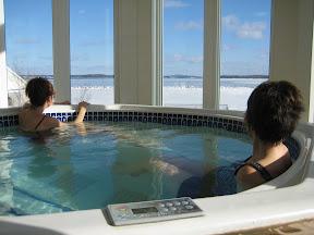 Jacuzzi hot tub at Oak Island Resort in Nova Scotia Canada