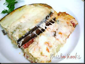 Krista Kooks Lighter Eggplant Parmesean 3 Weight Watchers