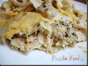 Krista Kooks Salsa Verde Sour Cream Enchiladas 5