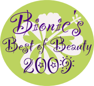 The Bionic Beauty blog's Best of 2009 beauty awards