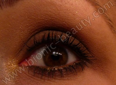 Warm brown makeup eye look by Bionic Beauty