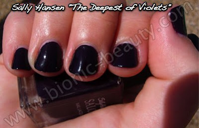 Sally Hansen nail polish in The Deepest of Violets