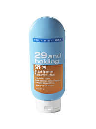 Bionic Beauty product review - True Blue Spa 29 and Holding SPF Sunscreen lotion