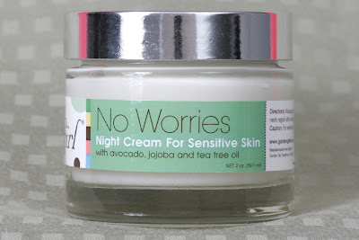 No Worries sensitive skin night cream by Garden Girl Skincare