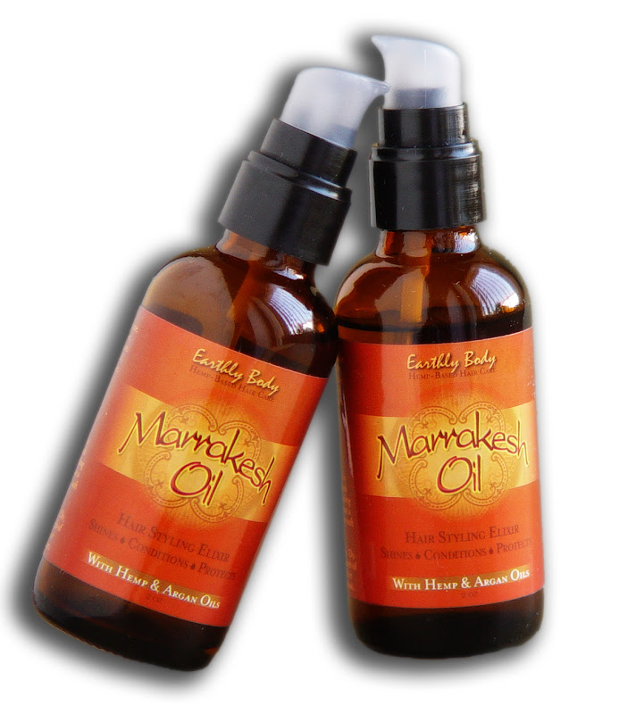The Bionic Beauty blog reviews Earthly Body's all natural Marrakesh Oil Hair Styling Elixir