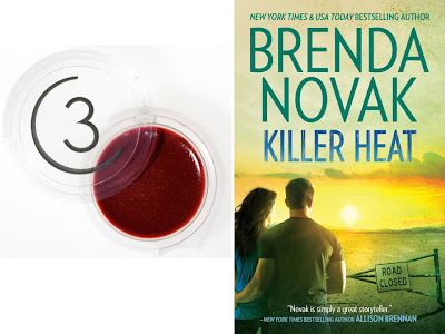 Free lip gloss from Three Custom Color with purchase of Killer Heat book by Brenda Novak