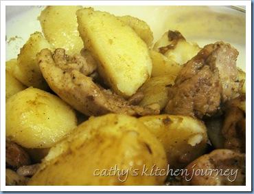 curry chix/potatoes
