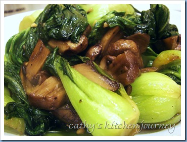 bok choy mushrooms