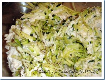 tofu zucchini mixture