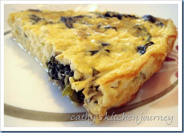 spinache tofu quiche slice