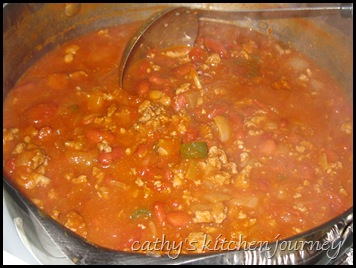 turkey, sausage chili