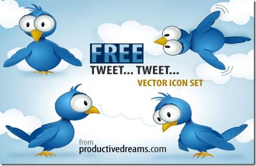 twittering vector