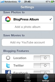 blogger iphone