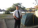 охранник палатки