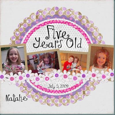 5 Years Old Natalie