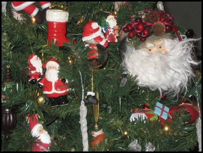 santa tree ornaments