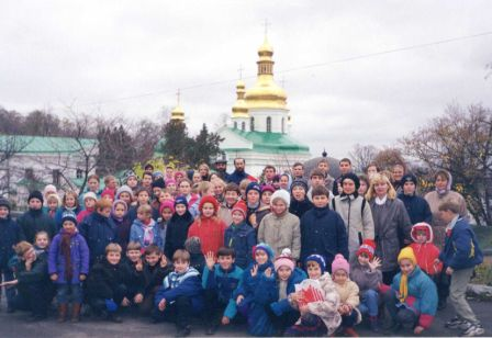 Travel to Kiev-Pechersk lavra together with parents.