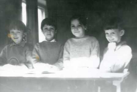 The first children in Sunday school. Перші діти недільної школи.