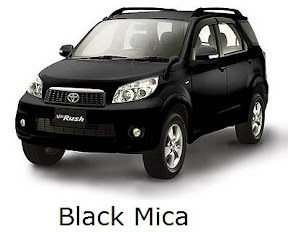 rush: new, toyota, facelift, warna, color, black mica