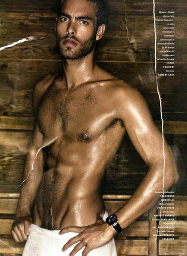 Jon Kortajarena Sweaty and Nude! Jon Kortajarena strips it off for Vogue ...