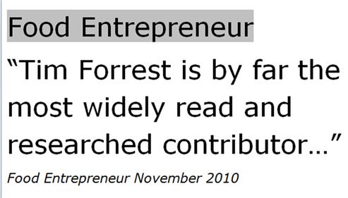 Food Entrepreneur 2010 M