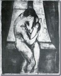 Munch - The Kiss Woodcut