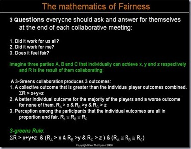 Fairness Equations