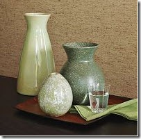 west elm_green vases