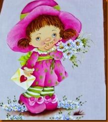 """pintura fralda para menina, menina e flores"""
