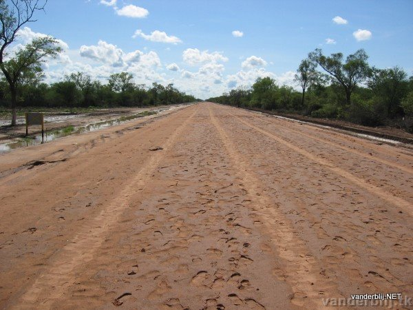 The main road through the Chaco Desert from Bolivia to the capital of Paraguay, Asuncion