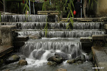 Waterfall in a chinese garden in Dal�