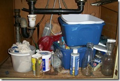 dirty under sink