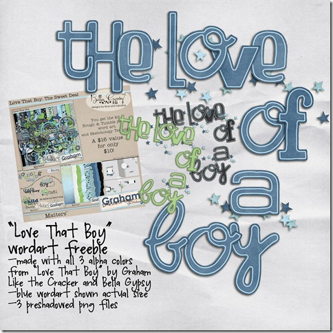 love that boy wordart freebie preview copy