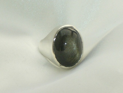 Anillo plata 925 con Obsidiana3